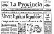 Muore la prima Repubblica