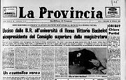 Ucciso dalle B.R. all'università di Roma Vittorio Bachelet vicepresidente del CSM