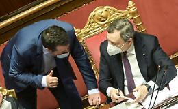 """Draghi incontra Salvini """"Confermato l'impegno a non aumentare le tasse"""""""