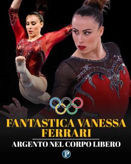 Ginnastica, argento Vanessa Ferrari nel corpo libero