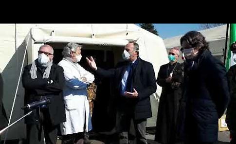 VIDEO L'inaugurazione a Crema dell'ospedale da campo