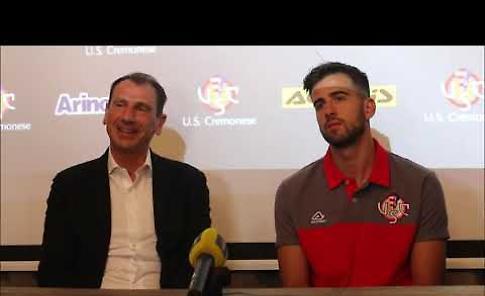 VIDEO Cremonese, Nereo Bonato presenta il nuovo acquisto Francesco Deli