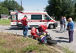 Le immagini dell'incidente tra un'auto e una moto in tangenziale a Cremona