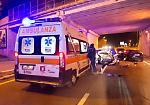 FOTO Incidente in tangenziale, tre auto coinvolte