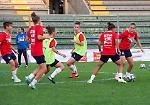 FOTO L'allenamento della Nazionale di calcio Femminile allo Zini di Cremona