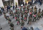 FOTO La fanfara provinciale dei bersaglieri in centro a Cremona