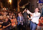 FOTO Galimberti rieletto sindaco di Cremona festeggia con i suoi sostenitori