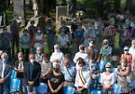 FOTO Le messa in suffragio delle vittime del Covid celebrata al cimitero di Cremona