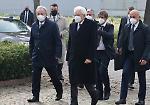 FOTO La visita a sorpresa del presidente Sergio Mattarella al cimitero di Castegnato