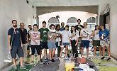 Il sottopasso di via Monti ripulito dai giovani del laboratorio Cremona si può
