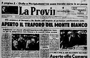E' stato ufficialmente aperto il traforo del Monte Bianco. Presenti Saragat e De Gaulle