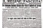 Un rinnegato italiano attenta alla vita di Umberto di Savoia