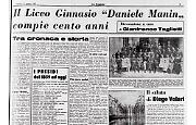 Il Liceo Ginnasio Manin compie cent'anni