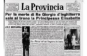 Muore Giorgio VI: Elisabetta II diventa regina d'Inghilterra