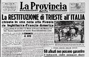 Inghilterra, Francia e Usa chiedono la restituzione di Trieste all'Italia