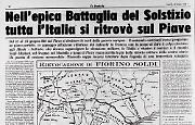Fiorino Soldi rievoca la Battaglia del Solstizio combattuta sul Piave