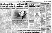 Nel 1886 si è spento a Milano il compositore cremonese Amilcare Ponchielli