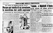 Il soresinese Alfredo Ponzini è l'inventore della macchina del caffè espresso