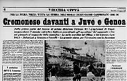 Cremonese davanti a Juve e Genoa