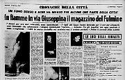 In fiamme in via Giuseppina il magazzino del Fulmine