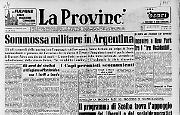 Sommossa militare in Argentina