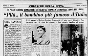 """""""Pilù"""" il bambino più famoso d'Italia"""