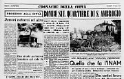Bombe sul quartiere di S. Ambrogio