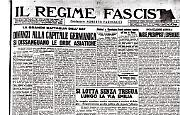 """Ultima uscita del Regime Fascista che ancora titola """"...impedisce al nemico lo sperato sfondamento"""""""