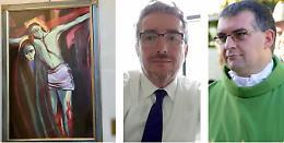Rimossi dalla chiesa i quadri sacri del sindaco