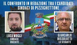 Pizzighettone, sfida in redazione tra i candidati sindaco Moggi e Bissolotti