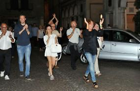 FOTO Stefania Bonaldi festeggia la riconferma a sindaco di Crema