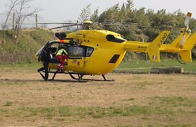 Centauro 31enne cade e viene portato in elicottero a Brescia