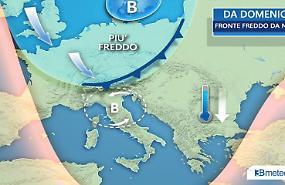 Da lunedì 13 novembre ondata di aria fredda