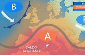 Acuto dell'alta pressione africana in settimana, sole e caldo ovunque