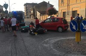 Collisione auto-scooter, 62enne all'ospedale