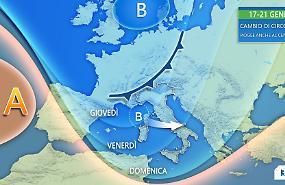 Da giovedì si cambia: tornano le piogge e la neve anche al Centro-Nord