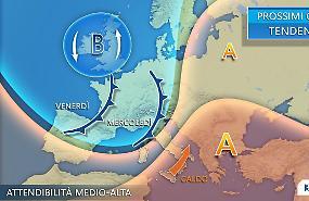 Italia divisa a metà tra temporali e primi caldi dal Nord Africa