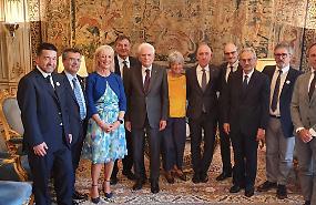 Elisabetta Buscarini ricevuta dal presidente della Repubblica