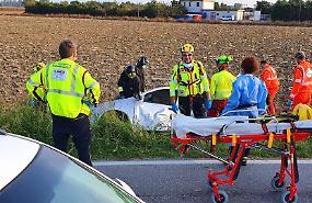 FOTO Le immagini dell'incidente mortale a Motta San Fermo