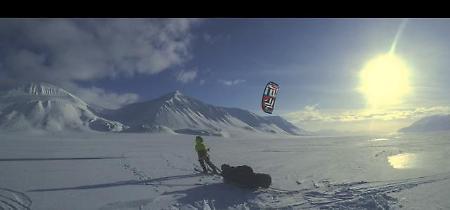 Viaggio al Polo Nord in kite