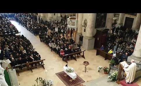 VIDEO I funerali di Marco Zani
