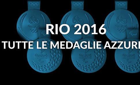 Com'è azzurro il cielo di Rio: tutte le medaglie italiane