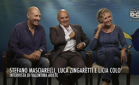 Alla ricerca di Dory: intervista a Zingaretti, Licia Colò e Stefano Masciarelli