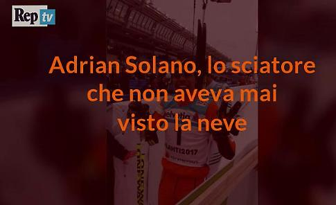 Adrian Solano, sciatore ai Mondiali senza essere mai stato sulla neve