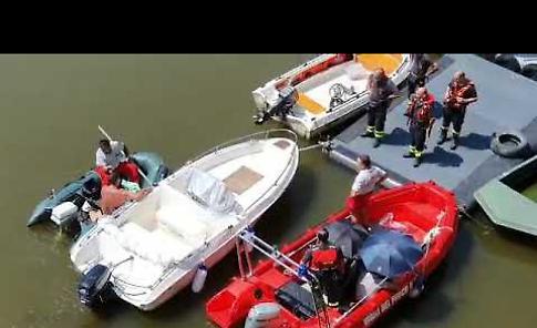 VIDEO Le ricerche della vettura nel fiume Po
