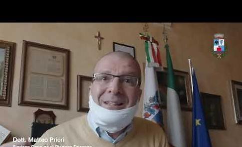 """VIDEO Piadena Drizzona, il sindaco: '38 morti e 29 casi positivi, dovete stare a casa"""""""