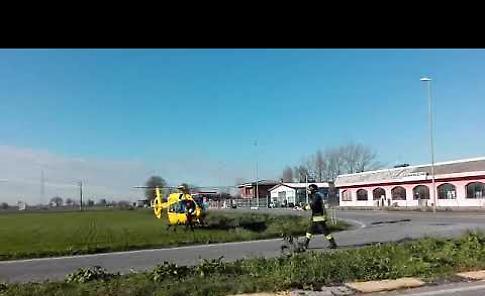 VIDEO L'arrivo dell'eliambulanza sul luogo dell'incidente