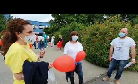 VIDEO Casalmaggiore, flash mob degli infermieri
