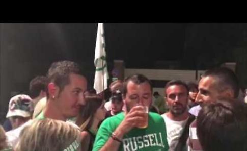 Matteo Slvini, comizio e bagno di folla a Soncino