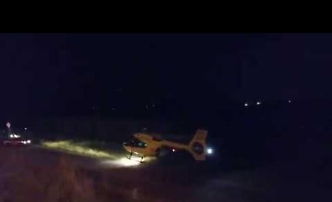 VIDEO Schianto a Dovera, l'elisoccorso trasporta il ferito a Cremona